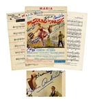 The Sound of Music Cast Signed Sheet Music -- Signed by Eight Cast Members Including Julie Andrews & the Seven Children -- With PSA/DNA COA