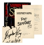 Stephen King Signed Pet Sematary -- First Edition, First Printing