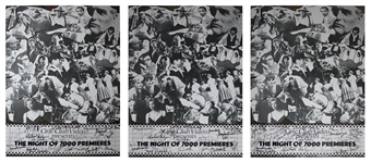 Lot of Three Movie Premiere Posters -- Signed by Christopher Reeve, Warren Beatty, Sting, Yoko Ono, Woody Allen, Mia Farrow, Liza Minelli, Dustin Hoffman & More