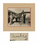 Curly Howard Signed 10 x 8 Three Stooges Photo -- 3 Stooges / In a hurry remember / Curly -- With PSA/DNA COA