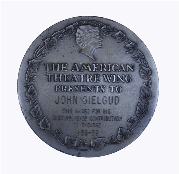 John Gielgud's Tony Award for the Shakespearean ''Ages of Man'' -- Gielgud Is One of Only 12 ''EGOT'' Winners, Who Have Won an Emmy, Grammy, Oscar & Tony Award
