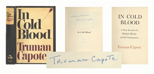 Truman Capote Signed First Printing, First Edition of In Cold Blood -- With Exceptional, First Printing Dust Jacket in Near Fine Condition
