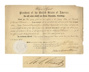 Ulysses S. Grant Document Signed as President