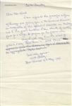 WWII Admiral William Halsey Autograph Letter Signed -- ...May I add my humble word of praise + say Good Cheer + Well Done...