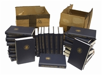 First Edition Set of the Warren Commissions Report on the Assassination of John F. Kennedy -- 26 Volumes in Original Shipping Boxes