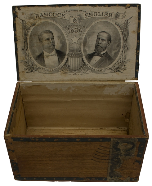 Cigar Box From the Election of 1880 -- Memorabilia From the Candidacy of Gettysburg Hero Winfield Hancock