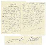 Joseph Heller Autograph Letter Signed -- ...About Catch-22...you undoubtedly know more about the book and the events surrounding it than I do...I would not trust my memory...