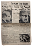 The Dallas Times Herald Newspaper From 15 March 1964 -- Jury Gives Jack Ruby the Death Penalty -- 26pp. -- Very Good Condition