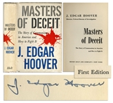 J. Edgar Hoover Signed Copy of Masters of Deceit -- Hoovers Analysis of the Communist Threat