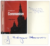 J. Edgar Hoover Signed A Study of Communism -- 1962