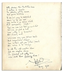 Noel Coward Handwritten & Signed Poem -- Composed in 1933 for Helen Hayes Daughter -- ...The talented and witty man / Who wrote these charming lines! / Noel Coward...