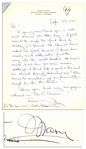 Mary Astor Autograph Letter Signed to Her Agent Regarding Her Novel -- ...Have you had any magazine interest in The OConnors?...