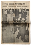 JFK Assassination Newspaper -- Complete 25 November 1963 Edition of The Dallas Morning News Reporting The Shooting of Lee Harvey Oswald by Jack Ruby