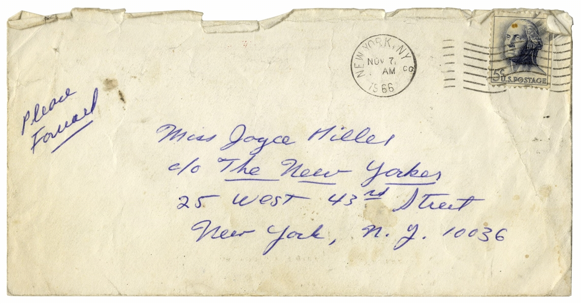 J.D. Salinger Autograph Letter Signed -- ''...I missed you by inches, once...''