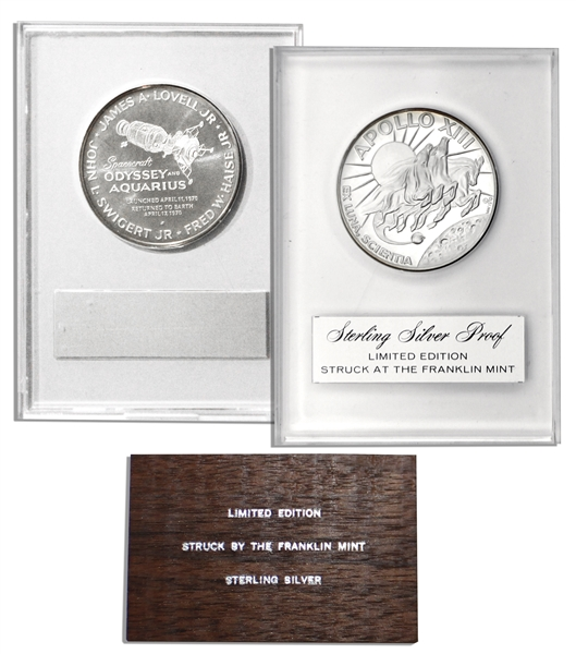 Jack Swigert's Personally Owned Apollo 13 Medallion Issued by the Franklin Mint