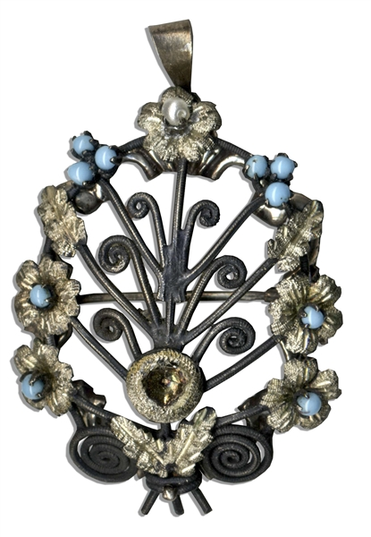 Marlene Dietrich Personally Owned Turquoise Brooch