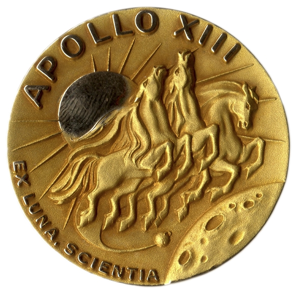 Jack Swigert's 14K Gold Robbins Medal Flown Aboard Apollo 13 -- One of Only 2 Given to Each Astronaut