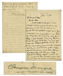 Clarence Darrow Autograph Letter Signed Regarding Prohibition -- ...I doubt if you would get any anti-prohibitionists to take them up...
