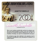 Annette Funicello Motion Picture Academy Membership Card From 2001 -- With COA From Funicello Research Fund