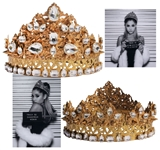 Ariana Grande Crown Worn for Dangerous Woman Promo Campaign -- With LOA From the Designer