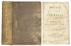 Herman Melville First U.S. Edition of the Classic Moby Dick -- In Original Binding