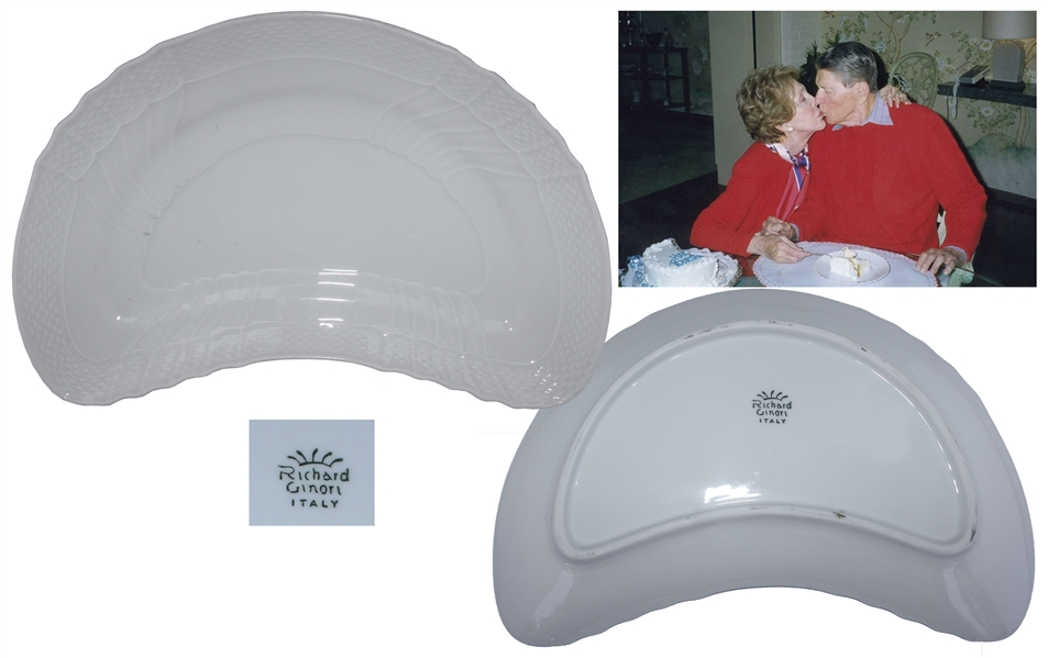 Ronald & Nancy Reagan Personally Owned & Used Salad Plate