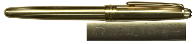 Ronald Reagan Mont Blanc Meisterstuck Engraved Pen -- Personally Owned & Used by Ronald Reagan, The Great Communicator
