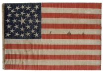 29-Star United States Flag With Medallion Star Pattern Commemorating Iowa Statehood, Circa 1846-1848