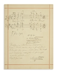 Max Reger Autograph Musical Quotation Signed, Plus Handwritten Note Signed -- ...regard this page with aversion and to turn to another page at once...
