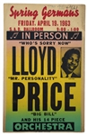 Lloyd Price 1963 Original Boxing-Style Concert Poster