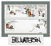 Final Calvin & Hobbes 1995 Color Proof Signed by Creator Bill Watterson