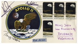 Apollo 11 Cover Boldly Signed by Neil Armstrong, Buzz Aldrin and Michael Collins -- With Steve Zarelli COA