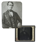 Abraham Lincoln Magic Lantern Slide -- The Earliest Known Portrait of Lincoln, Circa 1846