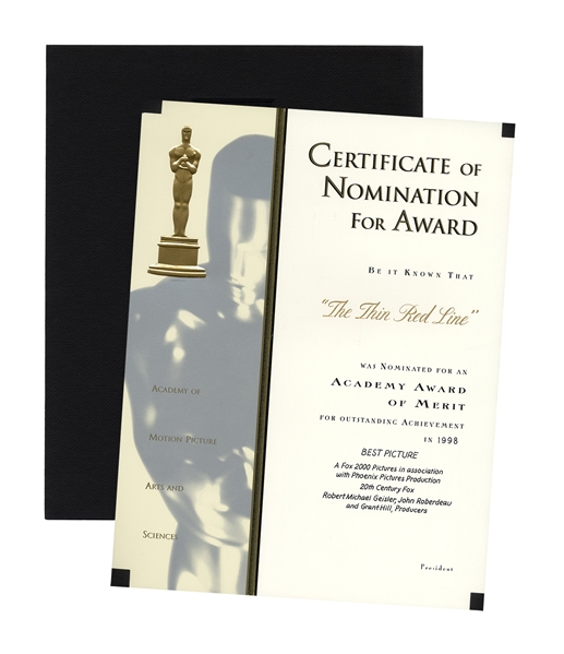 Academy Award ''Best Picture'' Nomination for ''The Thin Red Line'' by Terence Malick