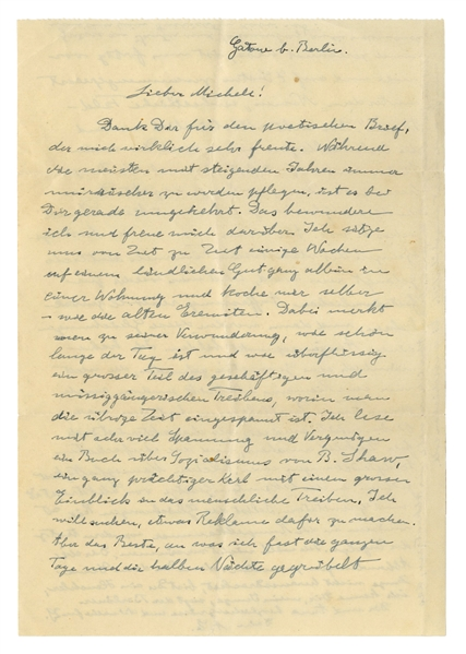 Albert Einstein Autograph Letter Signed Regarding His United Field Theory: ''...I have been brooding and calculating almost all of my days and half of the nights...'Unified Field Theory'...''