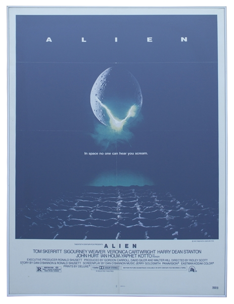 ''Alien'' Original Lithographic Poster From 1979