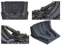 H.R. Giger Hand-Painted Model of Space Jockey & the Derelict Spaceship From Alien -- Measures Over 3 Feet by 3 Feet, Personally Owned by 20th Century Fox Executive Peter Beale