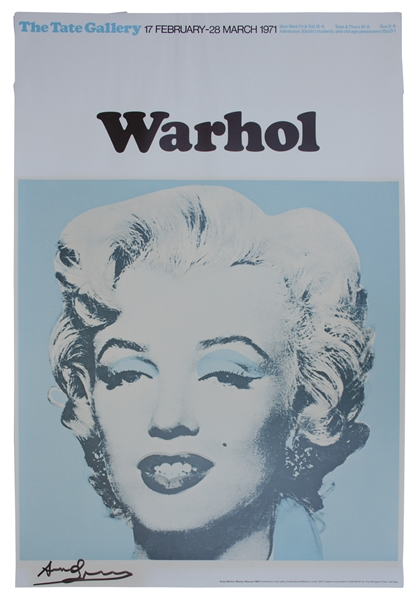 Andy Warhol Large Signed Poster of Marilyn Monroe