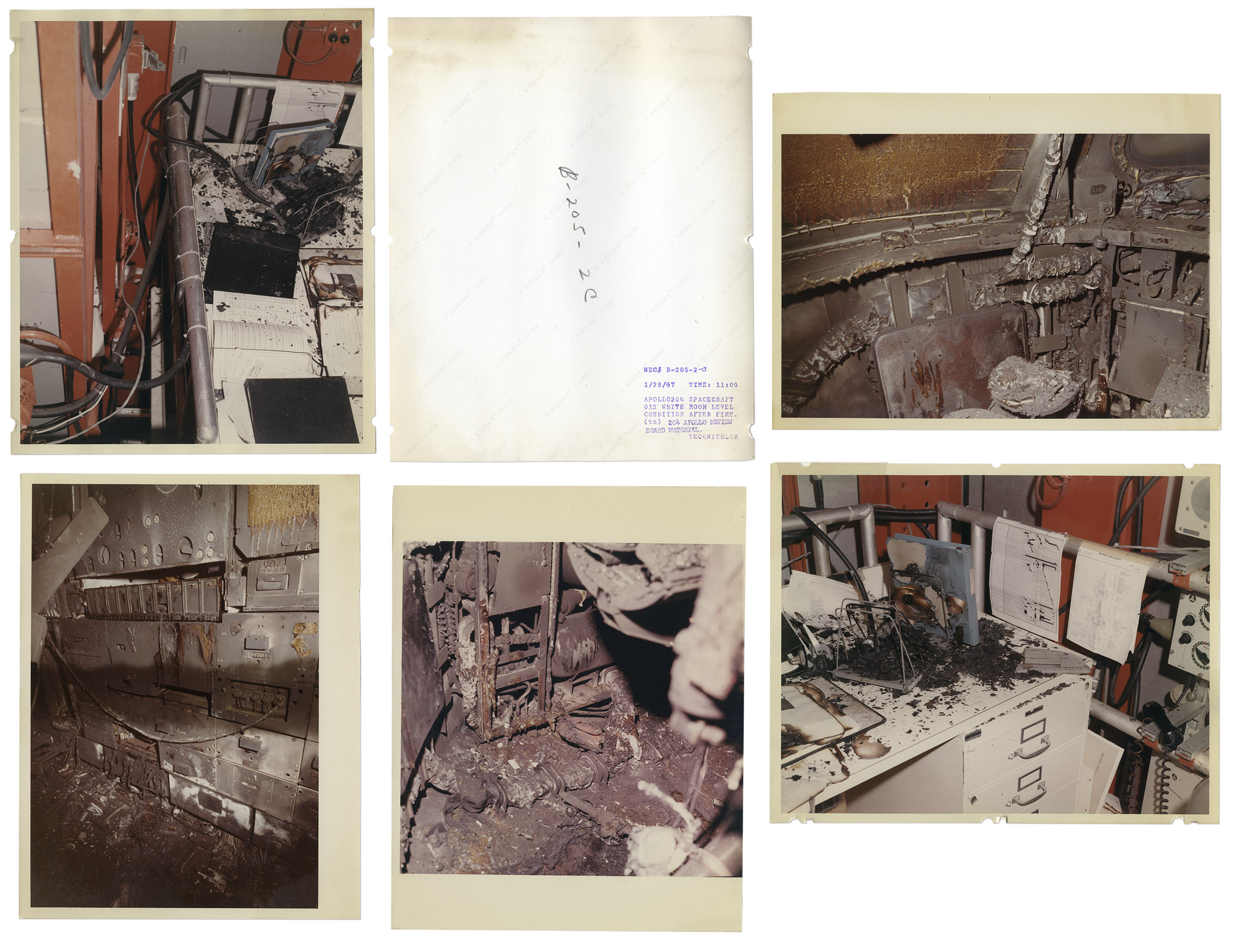 Lot Detail - Apollo 1 Fire Investigation Photos -- Forty ...