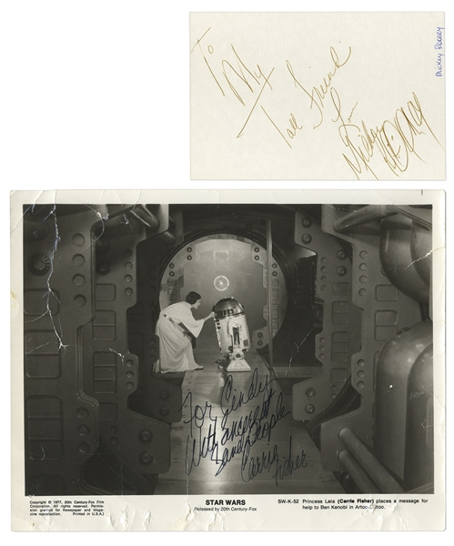 Autograph Album With Dozens of Hollywood Celebrities -- Including Carrie Fisher, Mickey Rooney & Joan Crawford