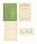 Ayn Rand Signed First Edition of The Fountainhead