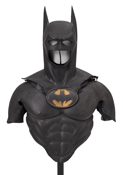 ''Batman Forever'' Batman Costume Featuring Cowl, Shoulders, Chest & Iconic Bat Symbol