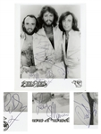 Bee Gees 8 x 10 Photo Signed by All Three Brothers Gibb