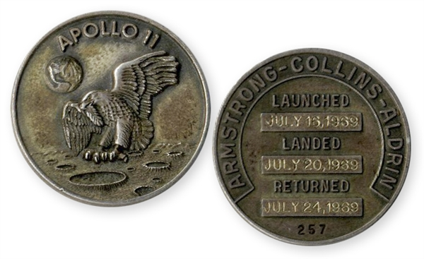 Space-Flown Apollo 11 Robbins Medal -- Given to the Consignor by Buzz Aldrin