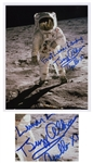 Buzz Aldrin Fantastic Signed 8 x 10 Photo of the First Lunar Landing