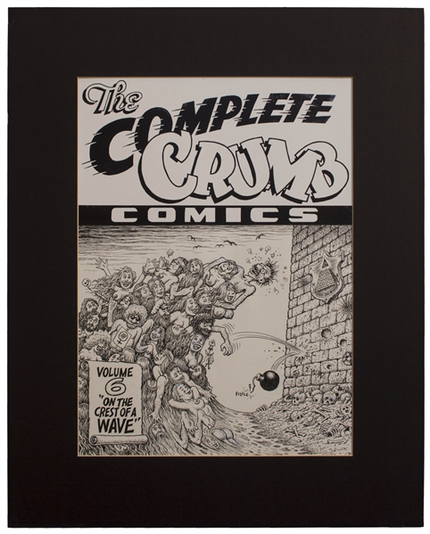 Robert Crumb Original Art Robert Crumb Original Cover Art for Volume 6 of ''The Complete Crumb Comics'' Entitled ''On the Crest of a Wave''