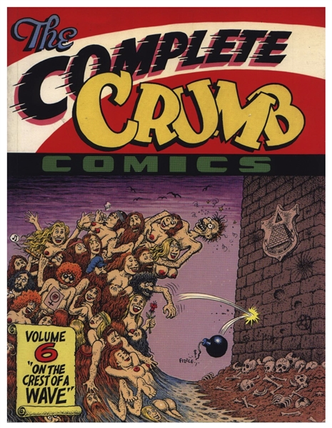 Robert Crumb Original Cover Art for Volume 6 of ''The Complete Crumb Comics'' Entitled ''On the Crest of a Wave''