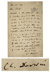 Charles Darwin Autograph Letter Signed to Fellow Naturalist & Explorer Henry Walter Bates, Author of The Naturalist on the River Amazons