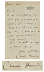 Charles Darwin Autograph Letter Signed -- Darwin Finally Receives Acclaim for His Works, ...in the most generous spirit & is highly honourable to me...