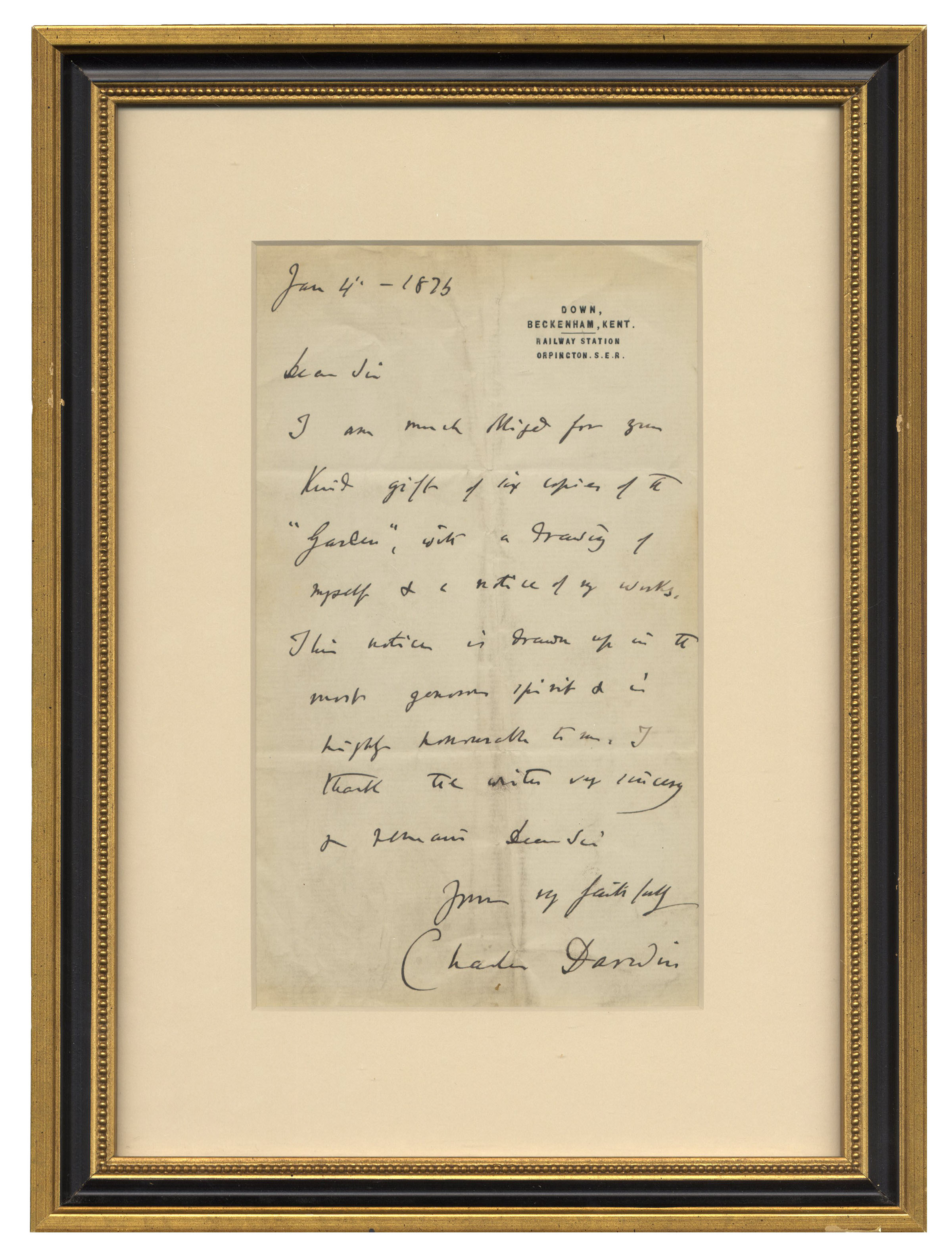 Lot Detail Charles Darwin Autograph Letter Signed
